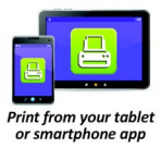 Print from tablet or smartphone Icon Opens in new window
